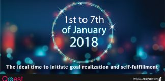 1st to 7th of January: The ideal time to initiate goal realization and self-fulfillment