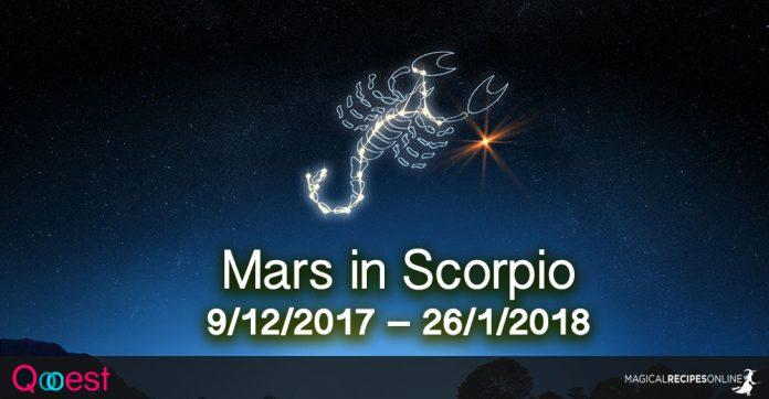 Mars in Scorpio: 9/12/2017 – 26/1/2018