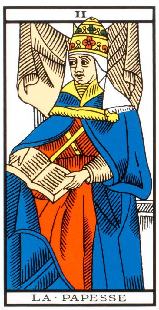 high priestess tarot marseille deck