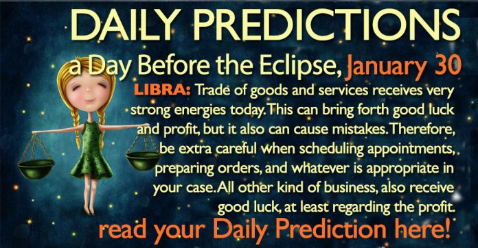 Daily Predictions for Tuesday, 30 January 2018