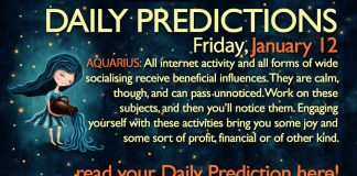 Daily Predictions for Friday, 12 January 2018