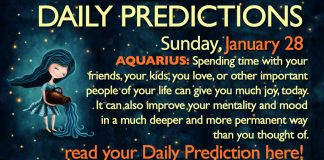 Daily Predictions for Sunday, 28 January 2018