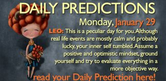 Daily Predictions for Monday, 29 January 2018