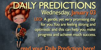 Daily Predictions for Wednesday, 03 January 2018