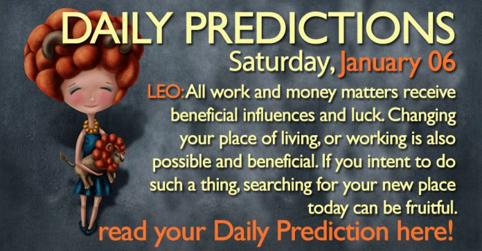 Daily Predictions for Saturday, 06 January 2018