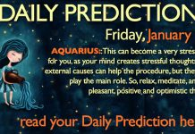 Daily Predictions for Friday, 19 January 2018