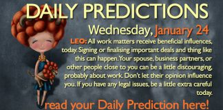 Daily Predictions for Wednesday, 24 January 2018