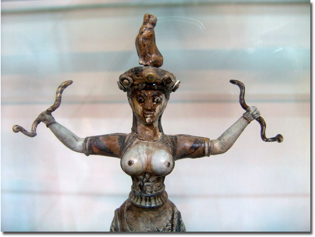 earth goddess with snakes Millennial gaia statue blue green hand painted earth goddess regular price $8995 sale price $4995 sale view golden, regal hathor statue, the great mother goddess.