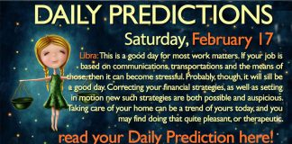 Daily Predictions for Saturday, 17 February 2018