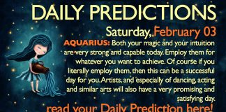 Daily Predictions for Saturday, 3 February 2018