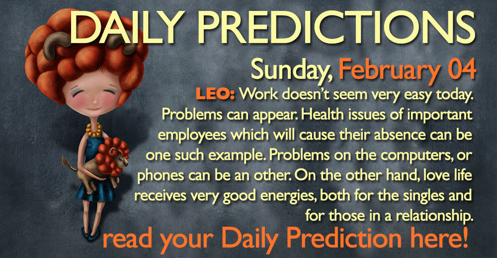 Daily Predictions for Sunday, 4 February 2018
