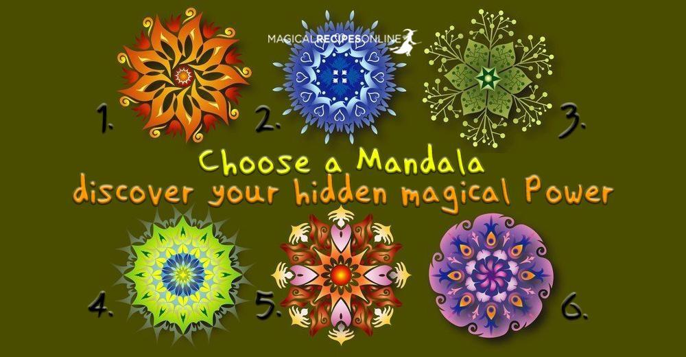Choose A Mandala Discover Your Hidden Magical Power Magical