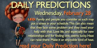 Daily Predictions for Wednesday, 28 February 2018