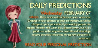 Daily Predictions for Wednesday, 7 February 2018
