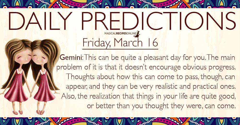 horoscope march 16 gemini