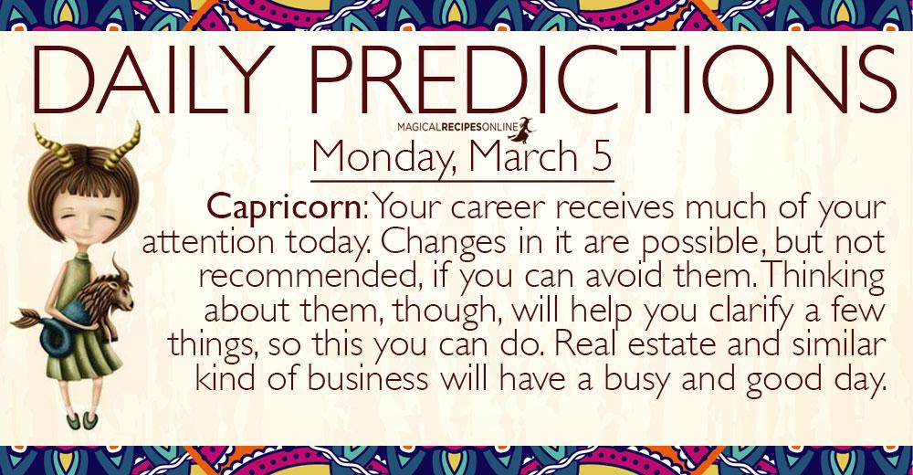 march 5 capricorn daily horoscope