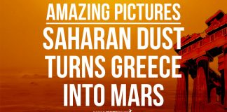 Saharan dust turns Greece into Mars