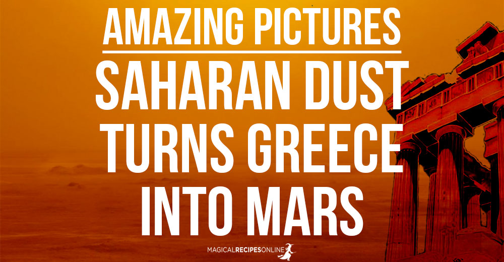Saharan dust turns Greece into Mars