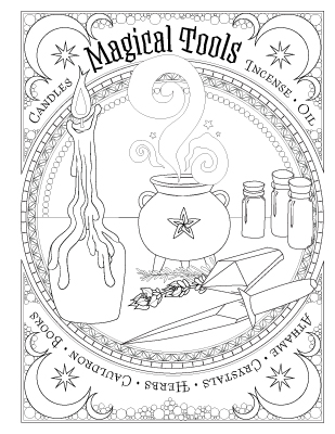Coloring Book Of Shadows Book Of Spells Magical Recipes Online