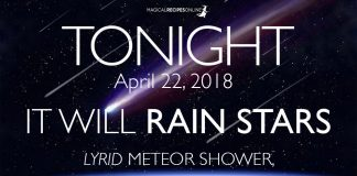 Tonight, it Will Rain Stars! Lyrid Meteor Shower, 2018