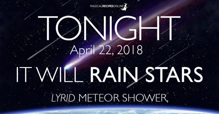 Tonight, it Will Rain Stars! Lyrid Meteor Shower, 2018