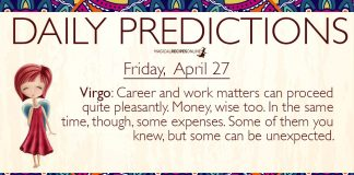 Daily Predictions for Friday, 27 April 2018