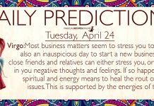 Daily Predictions for Tuesday, 24 April 2018