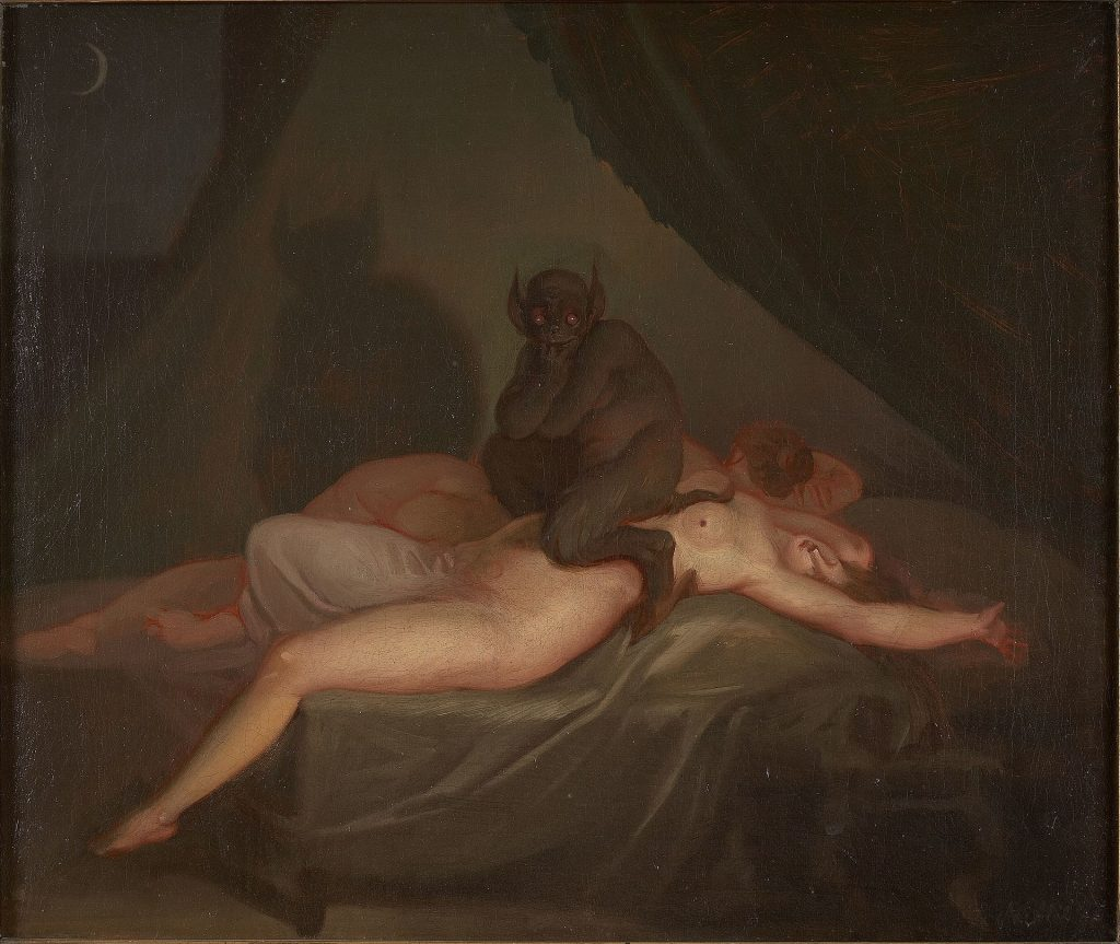 Nightmare (1800) after Henry Fuseli's The Nightmare (1781).