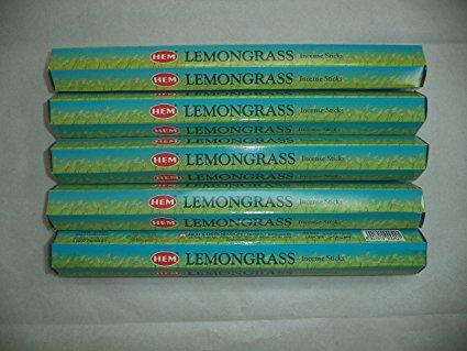 HEM Lemongrass 100 Incense Sticks (5 x 20 stick packs), by HEM, $6.28