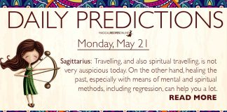 Daily Predictions for Monday, 21 May 2018