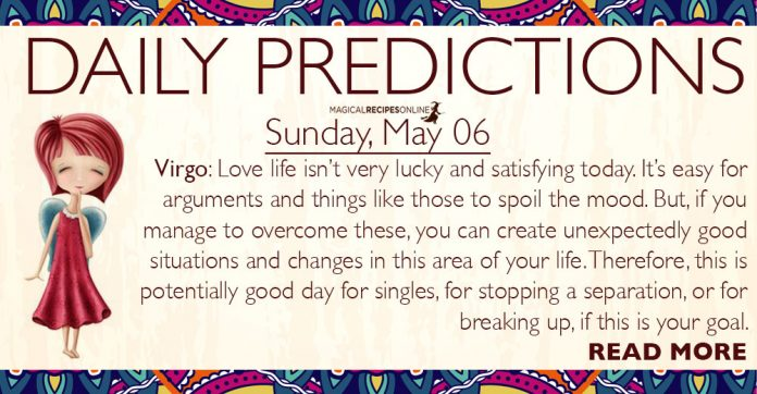 Daily Predictions for Sunday, 6 May 2018