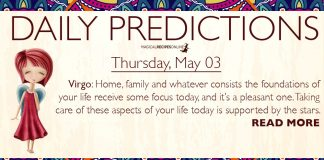 Daily Predictions for Thursday, 3 May 2018