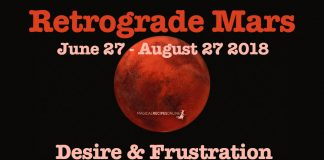 Retrograde Mars: June 27 - August 27 2018