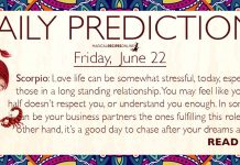 Daily Predictions for Friday, 22 June 2018