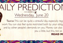 Daily Predictions for Wednesday, 20 June 2018