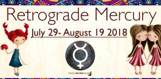 Retrograde Mercury, from July 29 - August 19 2018