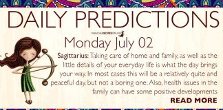 Daily Predictions for Monday, 02 July 2018
