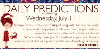 Daily Predictions for Wednesday, 11 July 2018