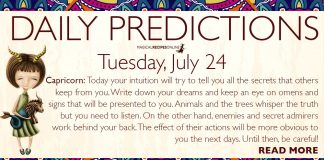 Daily Predictions for Tuesday, July 24, 2018