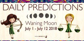 Waning Moon Predictions - July 1 until July 12 2018