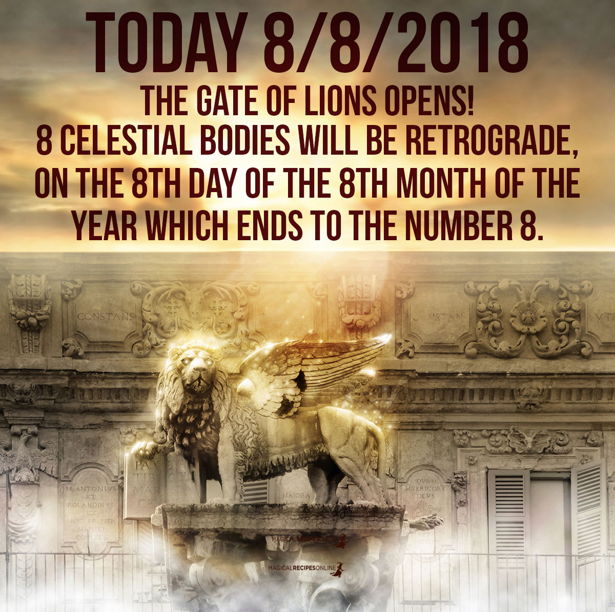 8 Celestial Bodies bodies will be Retrograde, on the 8th day of the 8th month of the year which ends to the number 8.