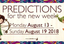 Predictions for the New Week, August 13 - 19