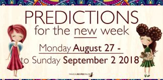 Predictions for the New Week, August 27 - September 2