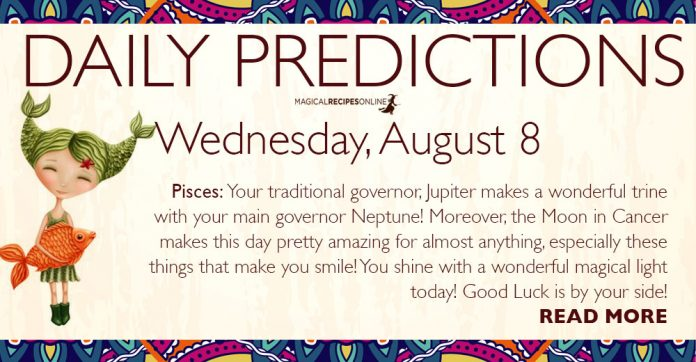Daily Predictions for Wednesday, 08 August 2018 - the Karmic Gate of 8