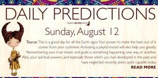 Daily Predictions for Sunday, 12 August 2018