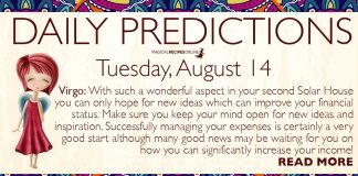 Daily Predictions for Tuesday, 14 August 2018