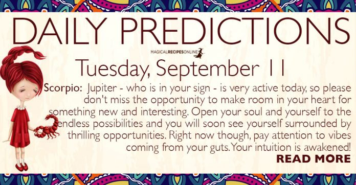 Daily Predictions for Tuesday, 11 September 2018