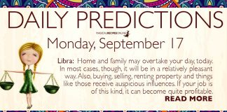 Daily Predictions for Monday, 17 September 2018