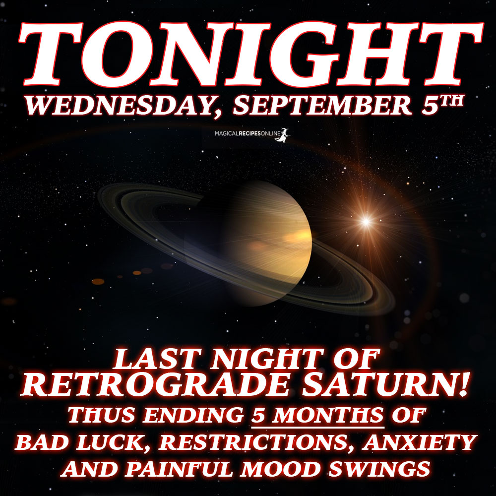 More good news come from Saturn's last day as retrograde. What is gone is gone. Spend no more tears for the past. Embrace the future.
