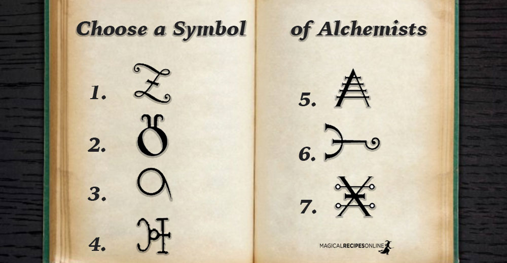 Your Current Life's Challenge - Choose a Symbol of Alchemists